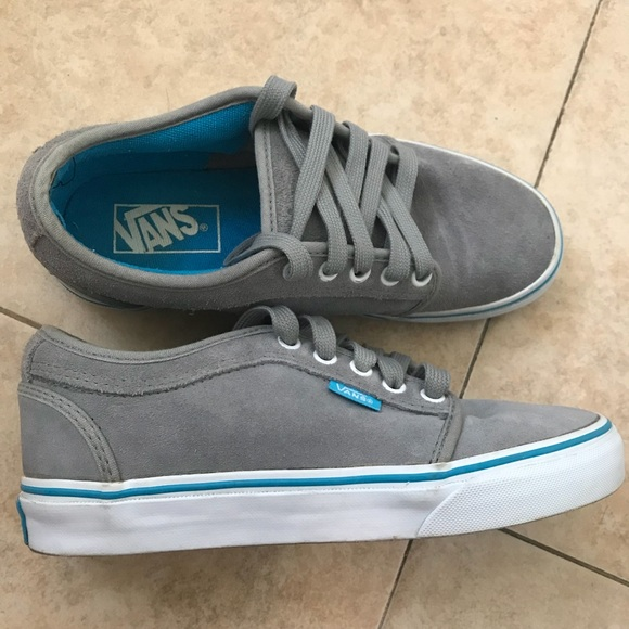 turquoise and grey vans chaussures